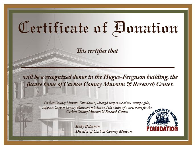 Donation Certificate - Regular Single