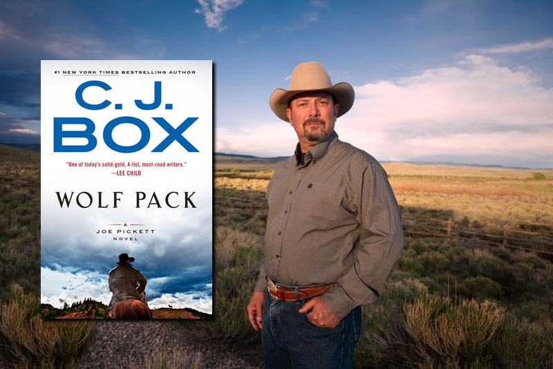 CJ Box autographed books at the Carbon County Museum